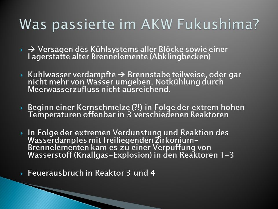 Was passierte im AKW Fukushima