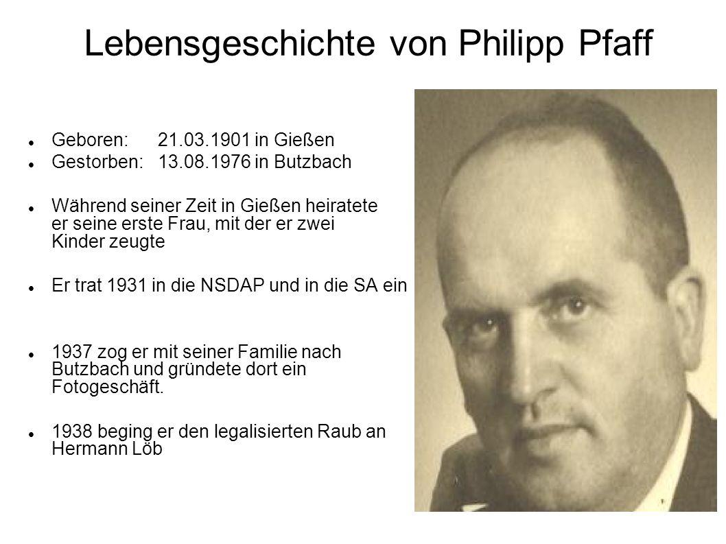 Lebensgeschichte von Philipp Pfaff