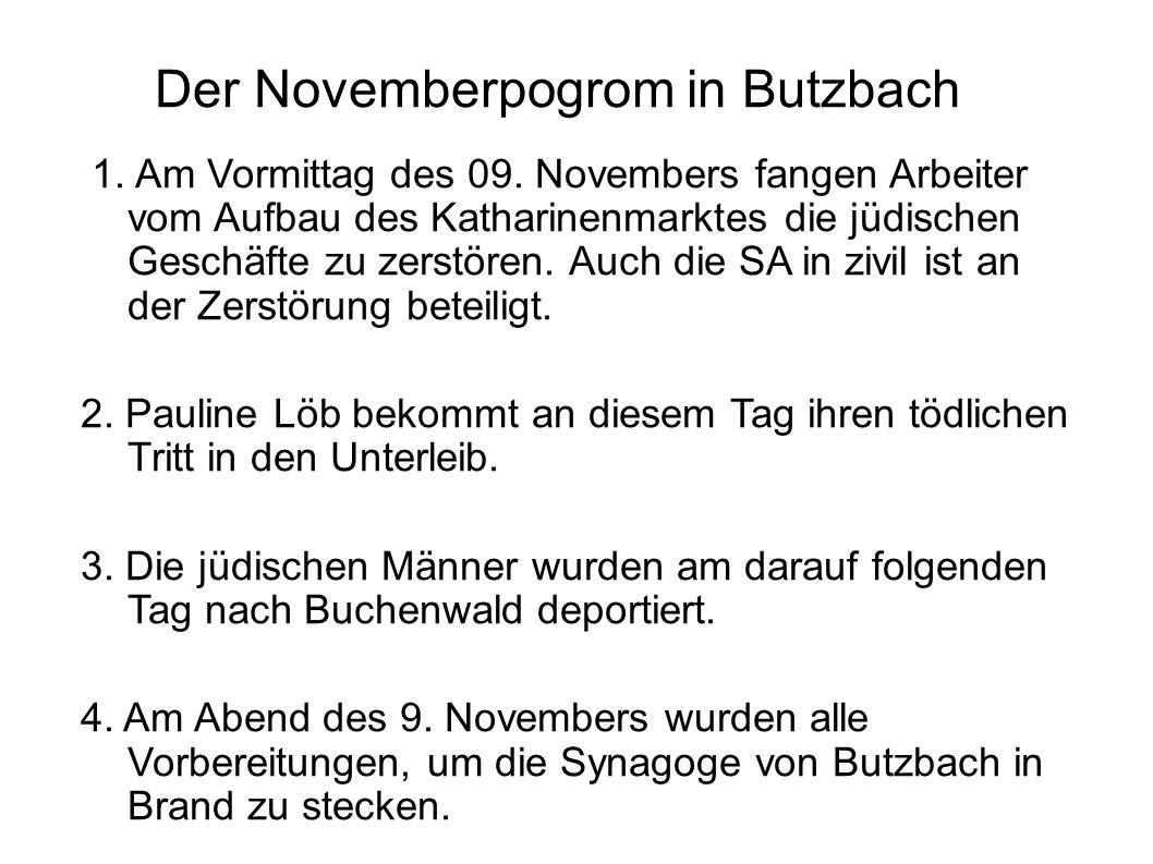 Der Novemberpogrom in Butzbach