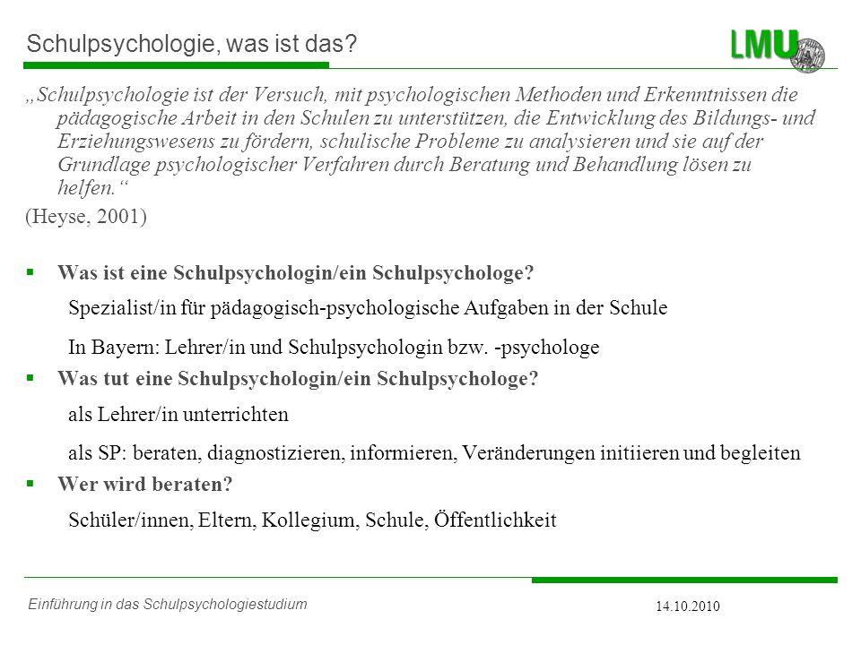 Schulpsychologie, was ist das