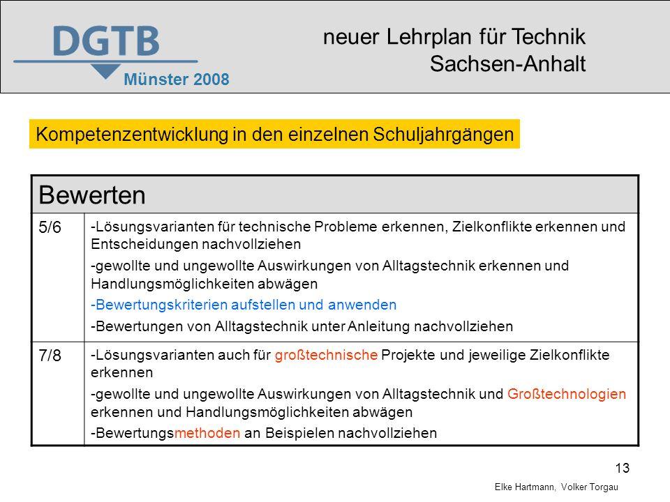 Bewerten neuer Lehrplan für Technik Sachsen-Anhalt