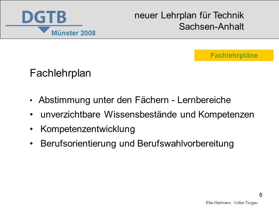 Fachlehrplan neuer Lehrplan für Technik Sachsen-Anhalt