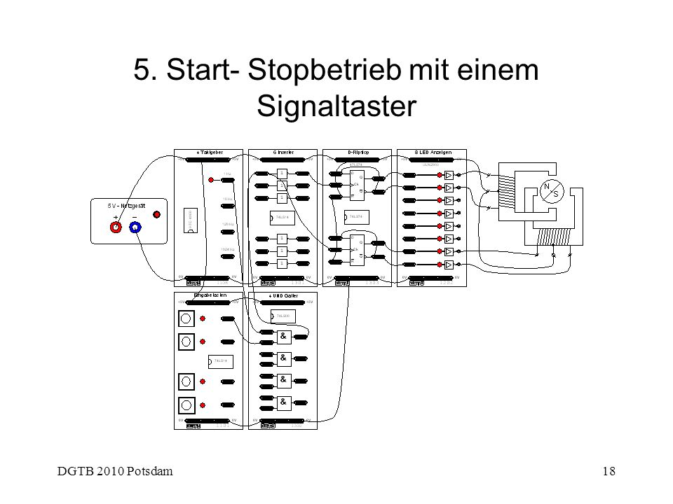 5. Start- Stopbetrieb mit einem Signaltaster