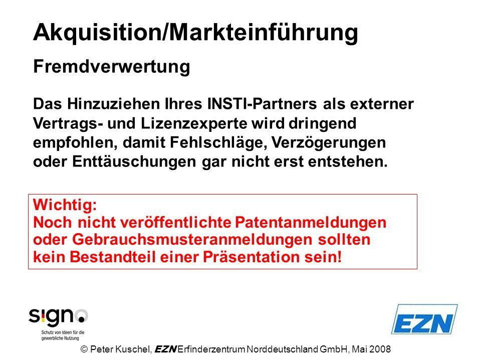 Akquisition/Markteinführung