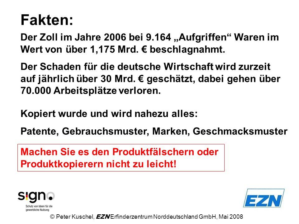 """Fakten: Der Zoll im Jahre 2006 bei 9.164 """"Aufgriffen Waren im Wert von über 1,175 Mrd. € beschlagnahmt."""