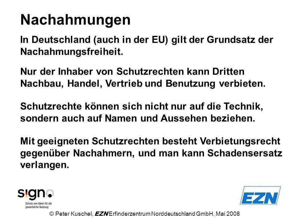 Nachahmungen In Deutschland (auch in der EU) gilt der Grundsatz der Nachahmungsfreiheit.
