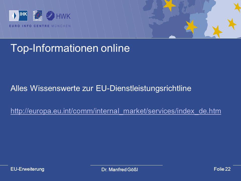 Top-Informationen online