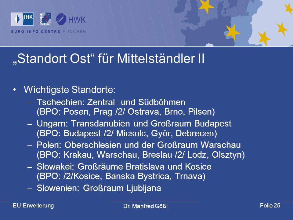 """""""Standort Ost für Mittelständler II"""