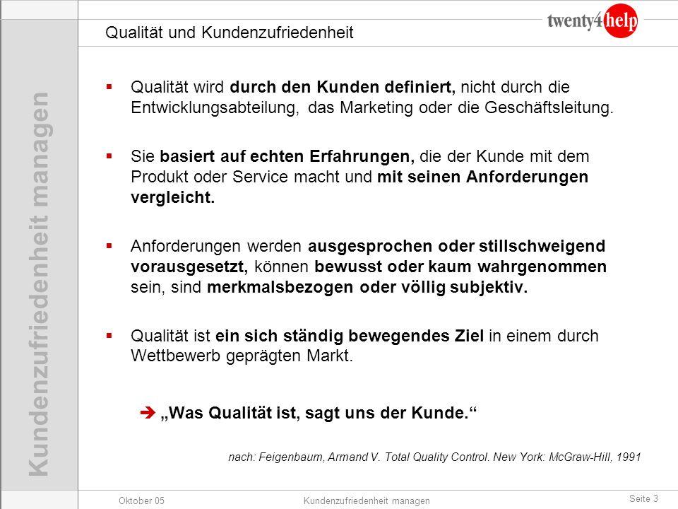 Qualität und Kundenzufriedenheit