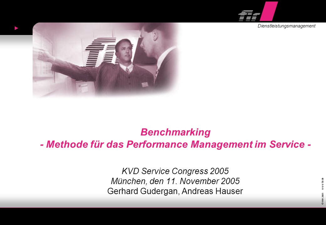 Benchmarking - Methode für das Performance Management im Service -