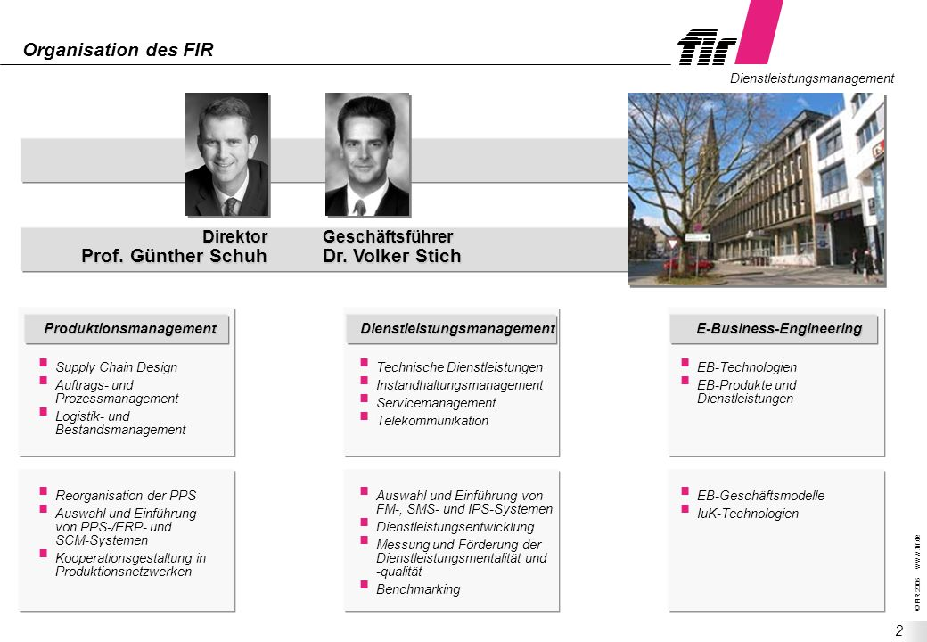 Produktionsmanagement Dienstleistungsmanagement E-Business-Engineering