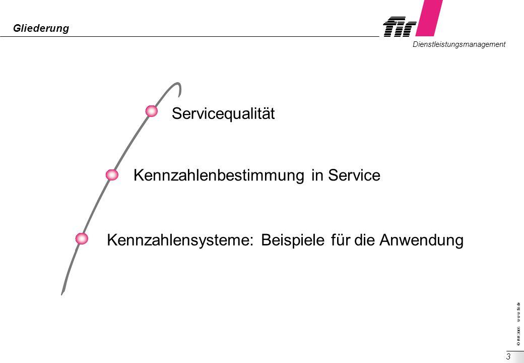 Kennzahlenbestimmung in Service