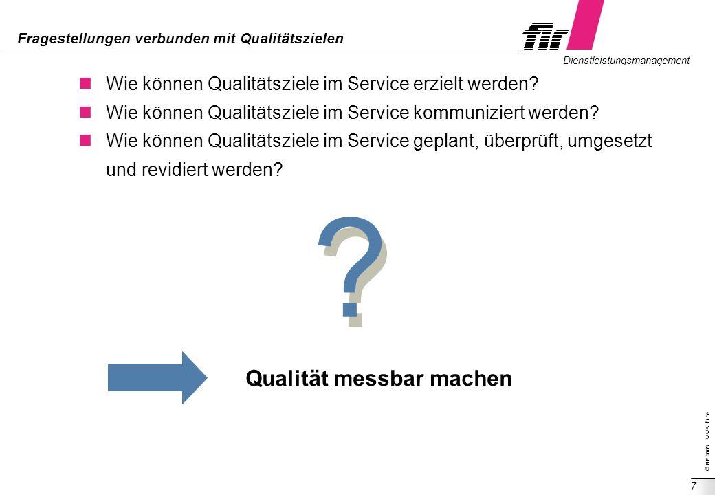 Fragestellungen verbunden mit Qualitätszielen