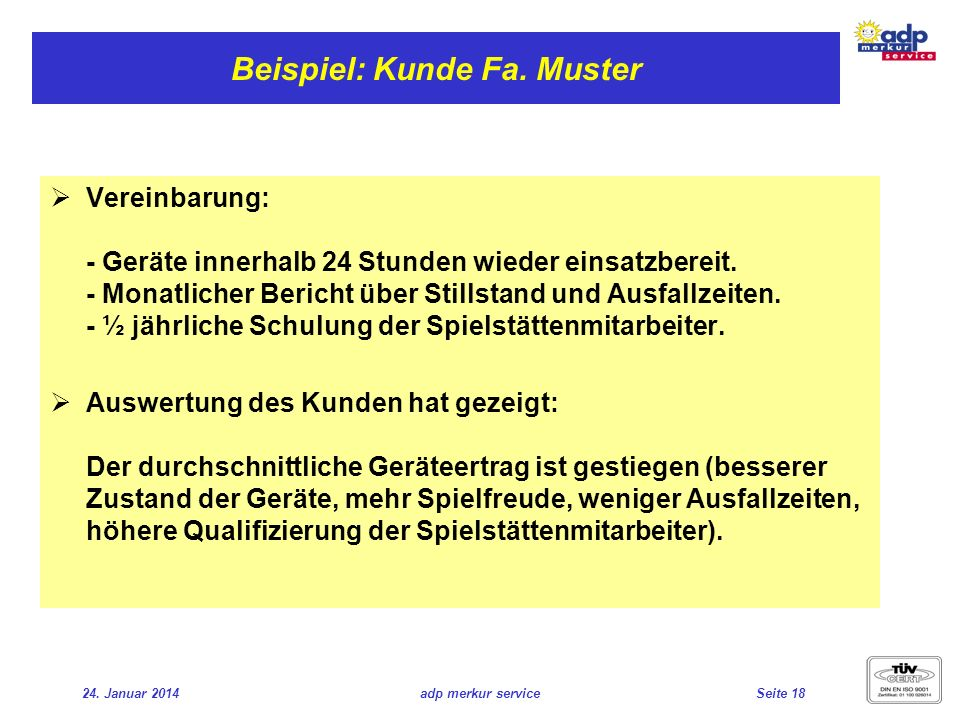 Beispiel: Kunde Fa. Muster