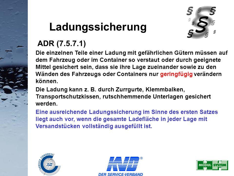 Ladungssicherung ADR (7.5.7.1)