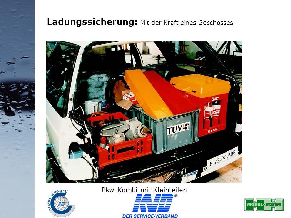 Ladungssicherung: Mit der Kraft eines Geschosses