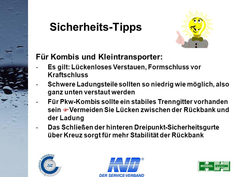 Sicherheits-Tipps Für Kombis und Kleintransporter: