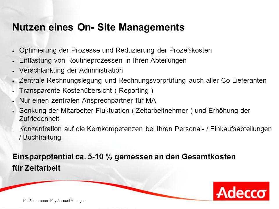 Nutzen eines On- Site Managements