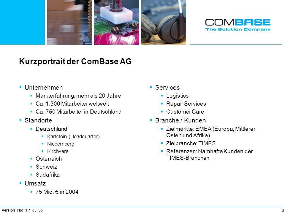 Kurzportrait der ComBase AG