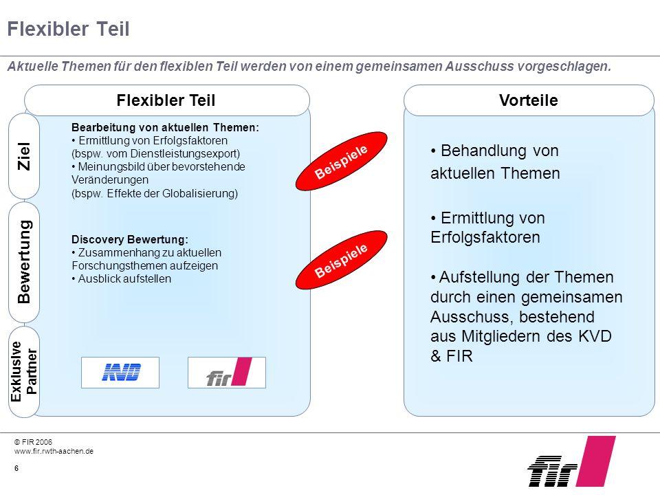 Flexibler Teil Flexibler Teil Vorteile Behandlung von aktuellen Themen