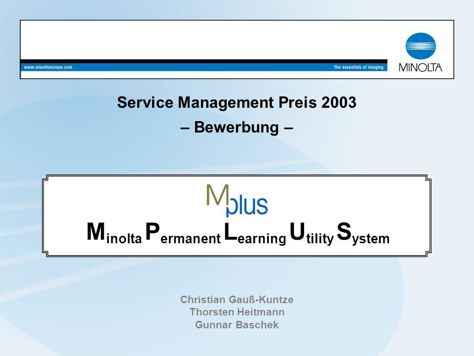Service Management Preis 2003 – Bewerbung –
