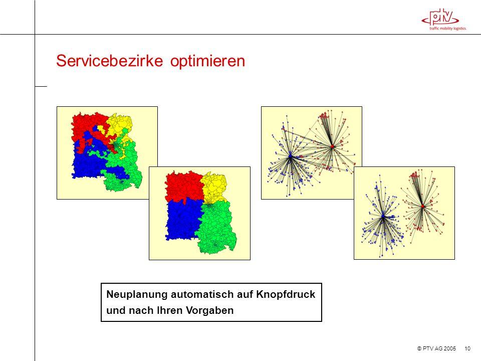 Servicebezirke optimieren