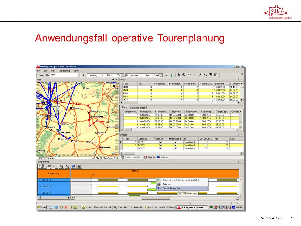 Anwendungsfall operative Tourenplanung