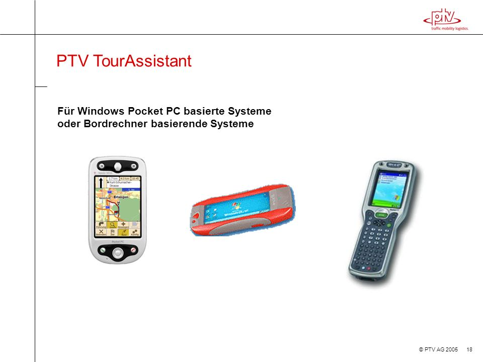 PTV TourAssistant Für Windows Pocket PC basierte Systeme