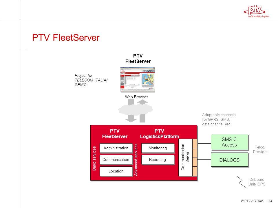 PTV FleetServer PTV FleetServer PTV FleetServer PTV LogisticsPlatform