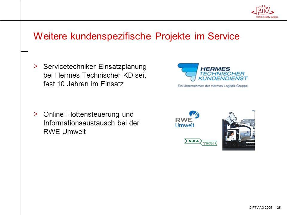 Weitere kundenspezifische Projekte im Service