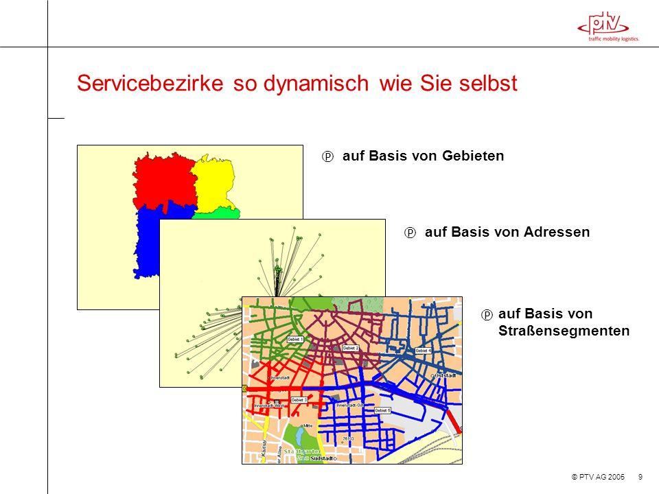 Servicebezirke so dynamisch wie Sie selbst