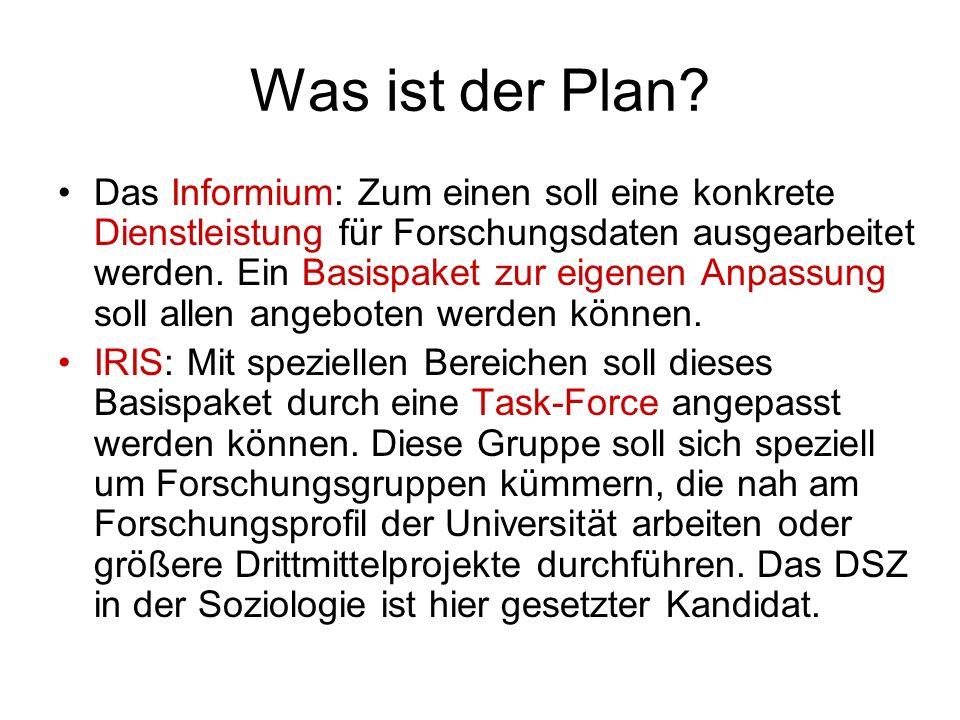 Was ist der Plan