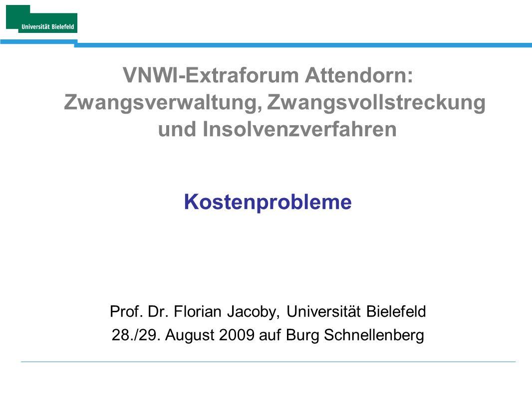 VNWI-Extraforum Attendorn: Zwangsverwaltung, Zwangsvollstreckung und Insolvenzverfahren