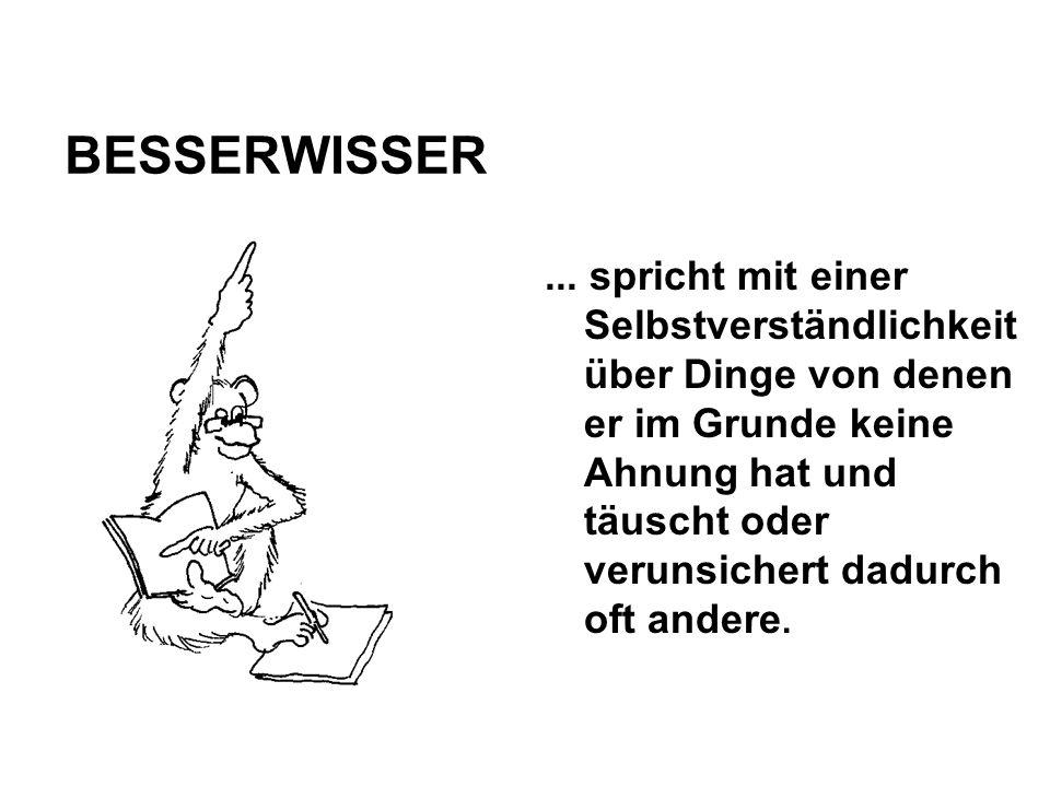 BESSERWISSER