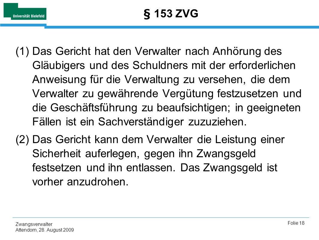 § 153 ZVG