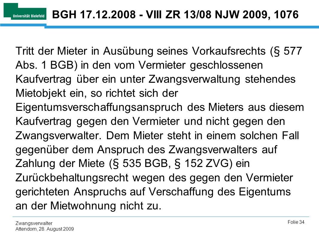 BGH 17.12.2008 - VIII ZR 13/08 NJW 2009, 1076