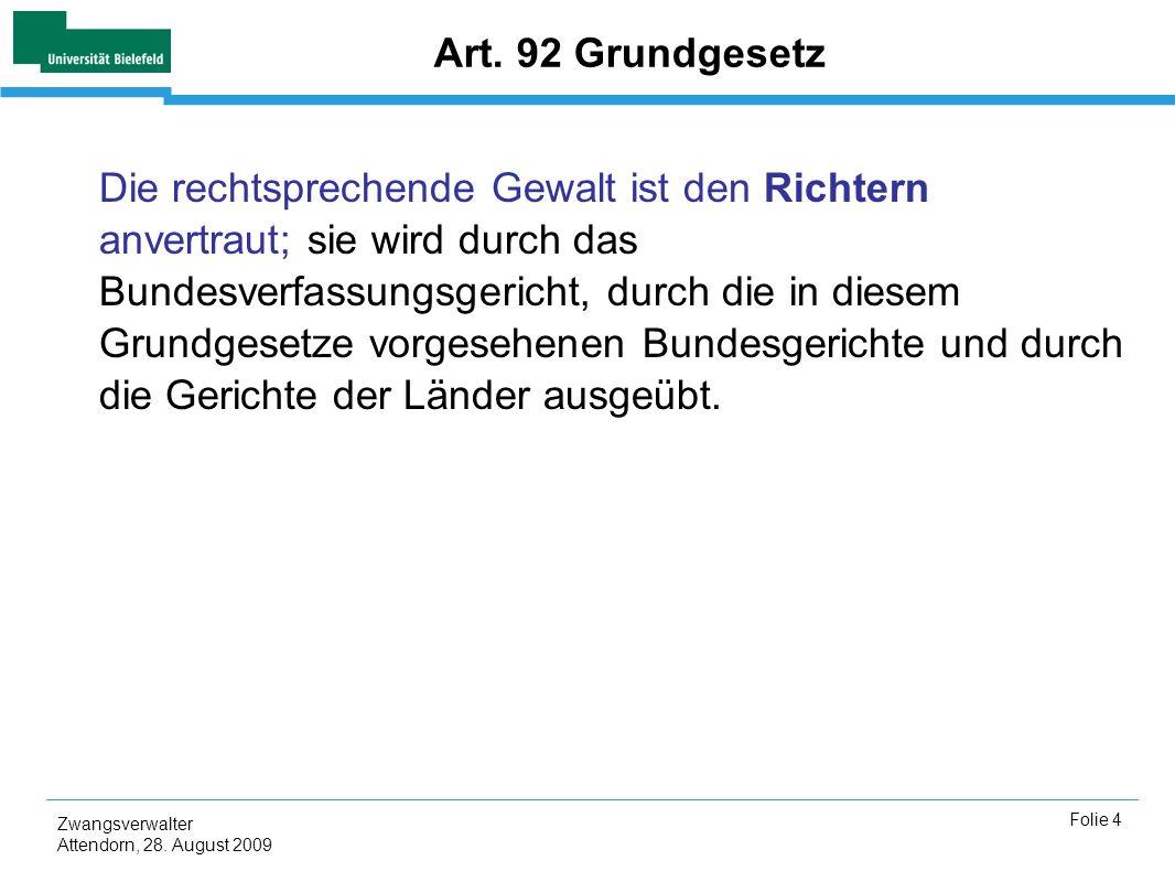 Art. 92 Grundgesetz