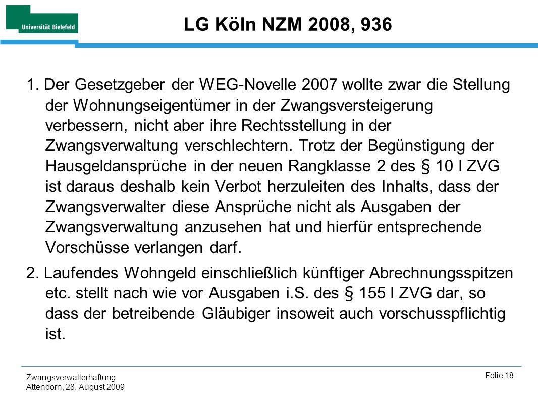 LG Köln NZM 2008, 936