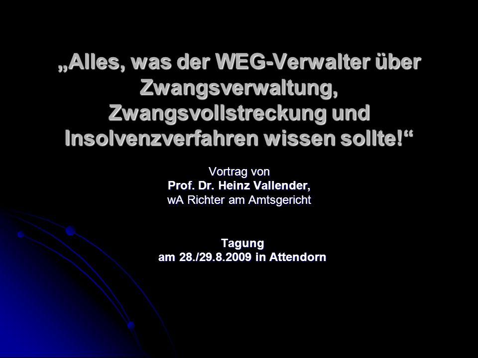 Prof. Dr. Heinz Vallender,