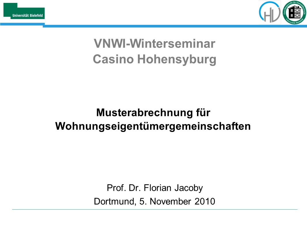 VNWI-Winterseminar Casino Hohensyburg