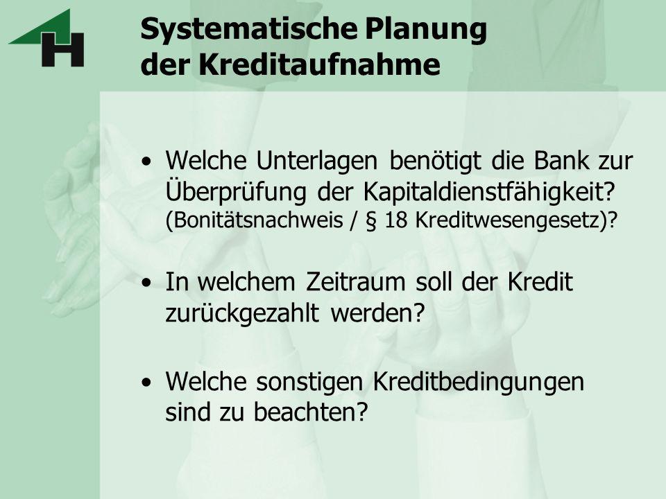 Systematische Planung der Kreditaufnahme