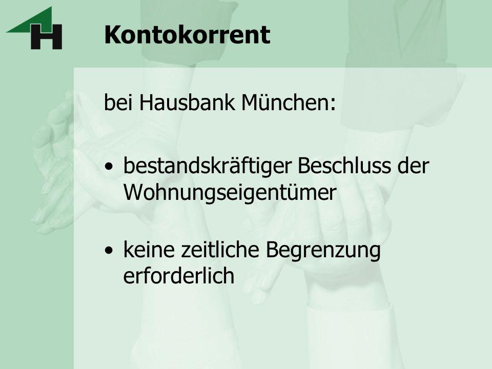 Kontokorrent bei Hausbank München: