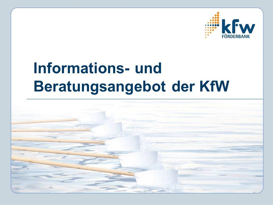 Informations- und Beratungsangebot der KfW