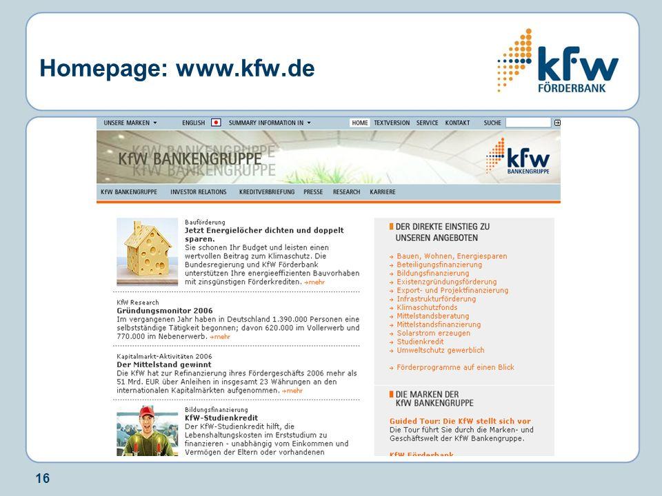 Homepage: www.kfw.de