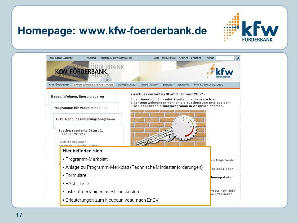 Homepage: www.kfw-foerderbank.de