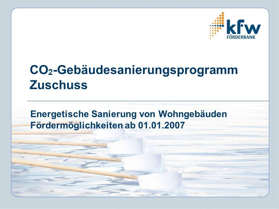 CO2-Gebäudesanierungsprogramm Zuschuss