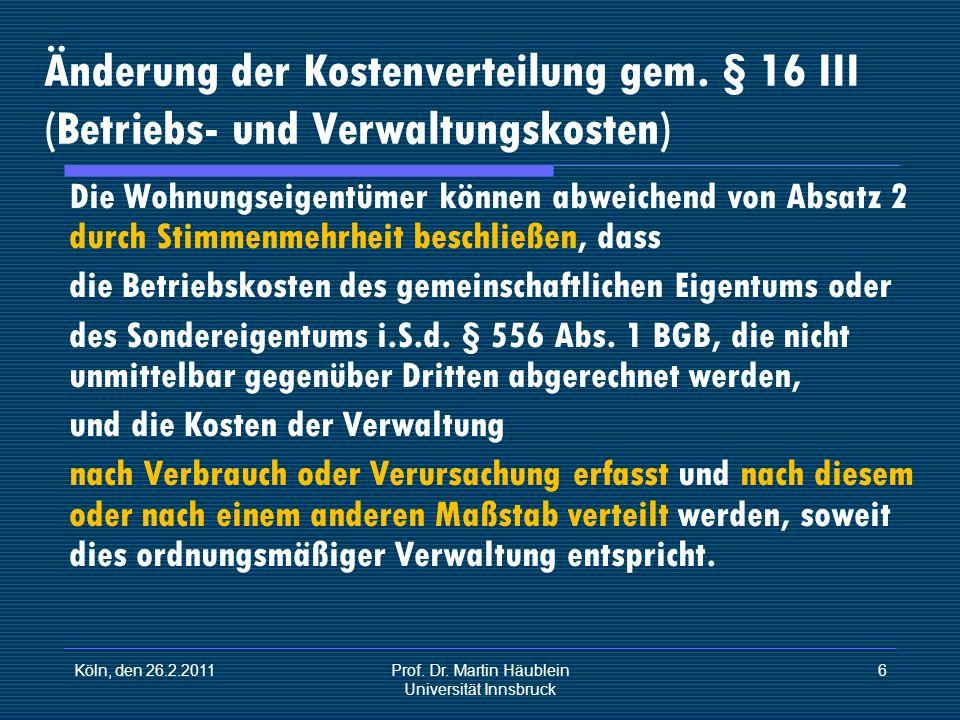 Prof. Dr. Martin Häublein Universität Innsbruck