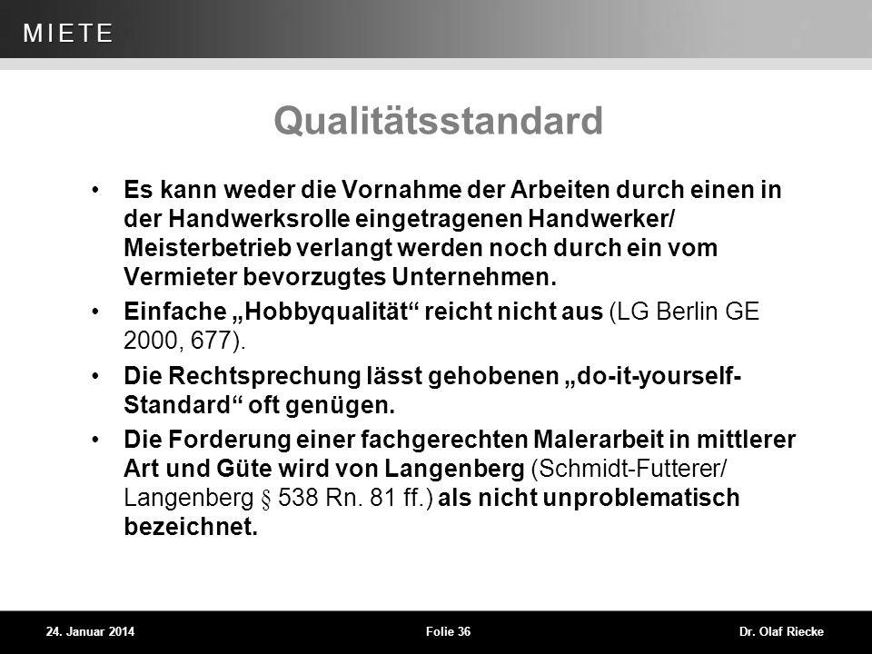 Qualitätsstandard