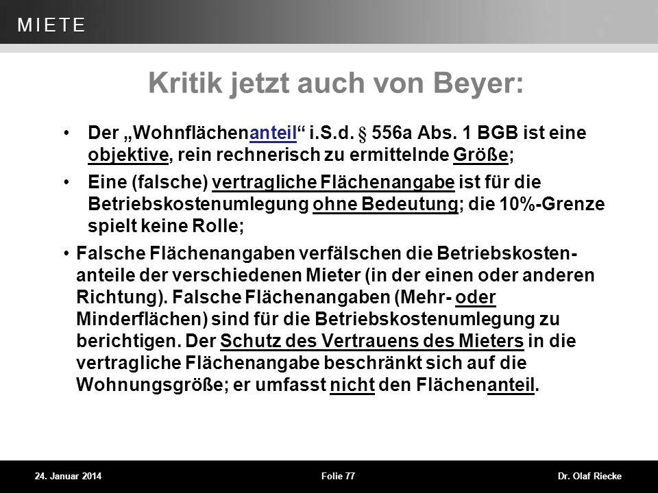 Kritik jetzt auch von Beyer: