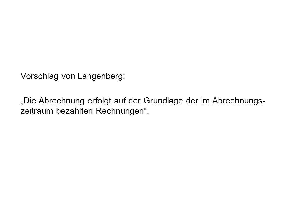 Vorschlag von Langenberg: